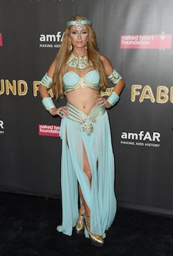 Celebrity Paris Hilton Princess Jasmine Costume