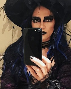 Celebrity Halloween Spider Witch Halle Berry Costume