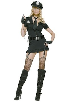 Celebrity Halloween Demi Lovato Sexy Cop Costume