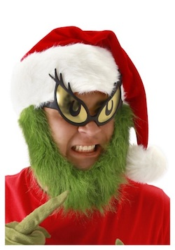 Christmas Grinch Costumes for Adults - fur beard