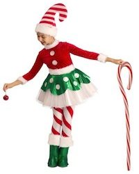 Christmas Santa Elf Costume for Kids