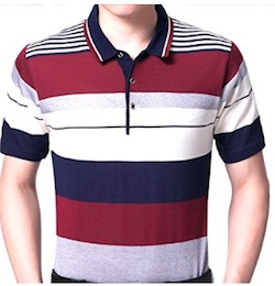 Netflix GLOW Producer Sam Costume for Men -striped red shirt