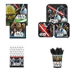 Star Wars Chewbacca Party Supplies - deluxe party set