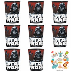 Star Wars Darth Vader Party Decorations Balloons - cups