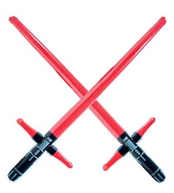 Star Wars Kylo Ren Party Supplies - lightsabers