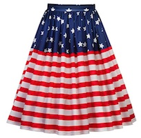 American Flag Pleated Skirt