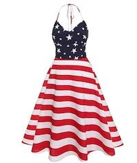 Debbie Eagen Liberty Belle Halter Dress