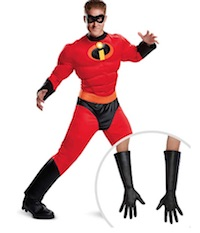 Mr. Incredible Costume with Gloves