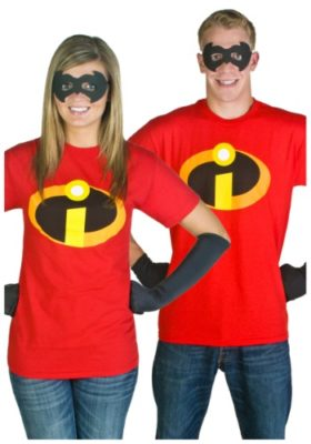 Adult Mrs and Mr. Incredible T-shirt Costume
