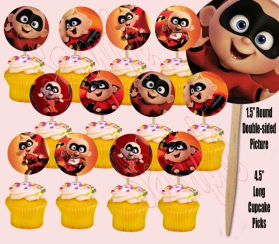 Jack Jack Incredibles Cupcake Toppers
