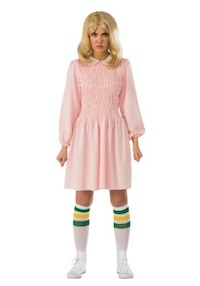 Stranger Things Eleven Pink Dress Costume for Women