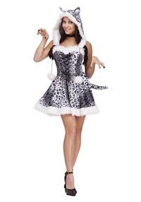 Kim Kardashian Snow Leopard Costume