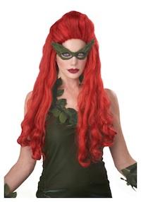 Kim Kardashian Poison Ivy Red Costume Wig