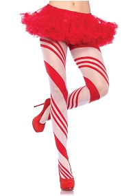 Christmas Candy Cane Costume Leggings