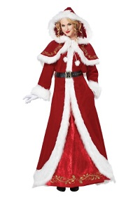 Classic Deluxe Mrs. Claus Costume for Women