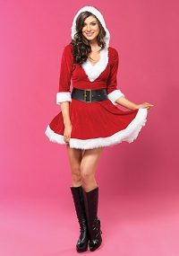 Sassy Mrs. Claus Costume for Women