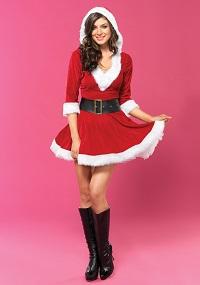 Sassy Mrs. Claus Costume for Women