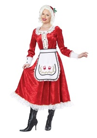 Classic Mrs. Claus Costume for Adults
