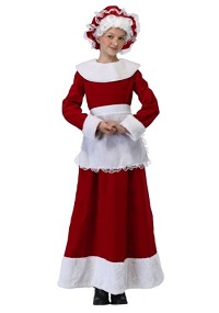 Christmas Mrs. Claus Costume for Kids