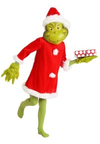 Deluxe Santa Grinch Costume for Kids