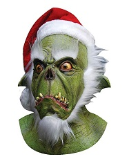 Santa Grinch Costume Mask for Adults