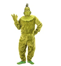 Deluxe Grinch Jumpsuit for Adults