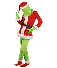 Christmas Santa Grinch Costume for Adults