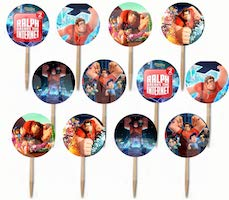 Wreck it Ralph Cupcake Picks