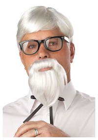 PK Subban Costume - KFC Theme Colonel Sanders Wig and Moustache