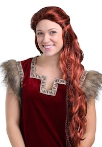 Joe Jonas Costume Wig as Sansa Stark from Game of Thrones