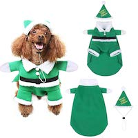 Christmas Pet Costume - Elf Outfit for Dogs