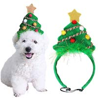 Christmas Tree Headband for Pets