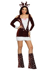 Christmas Sexy Reindeer Costume for Adults