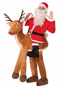 Christmas Adult Ride a Reindeer Costume