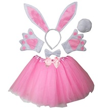 Kids Size Easter Bunny Costume Props