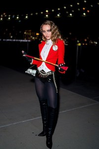 Lily Rose Depp Sexy Ringleader Costume