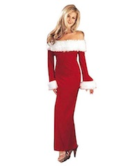 Sexy Santa Claus Costume - Evening Dress