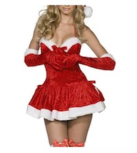 Sexy Santa Claus Costume Dress