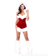 Sexy Santa Claus Costume Minidress