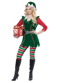 Festive Elf Costume for Adults
