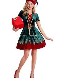 Holiday Festive Elf Costume for Adults