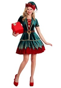 Deluxe Festive Elf Costume for Adults