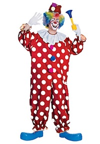 Dotted Clown Costume for Adults