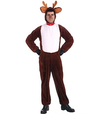 Plush Christmas Rudolph Reindeer Costume