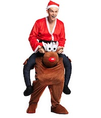 Inflatable Santa Riding Rudolph Costume