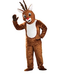 Christmas Rudolph Reindeer Costume for Adults