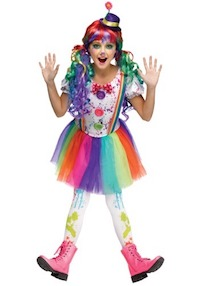 Colorful Circus Kids Clown Costumes