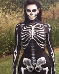 Kim Kardashian Skeleton Costume