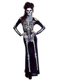 Kim Kardashian Sexy Skeleton Costume