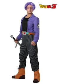 Dragon Ball Z DBZ Trunks Costume for Adults